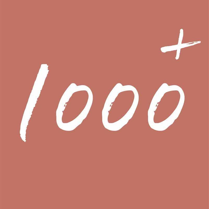 élément graphique représentant le nombre 1000